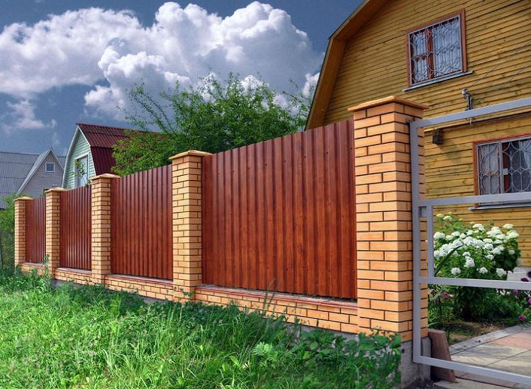 Металопрофиль забор из профнастила от Арембуд